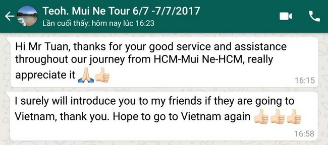 MUI NE SAND DUNES DAY TOUR FROM SAIGON/ HO CHI MINH   Hai